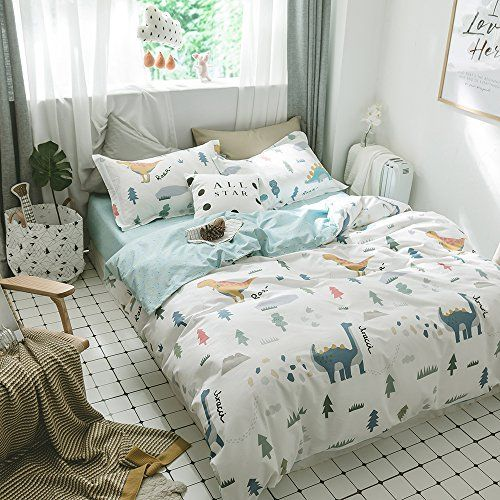 Enjoybridal Soft Cotton Queen Bedding Duvet Cover Sets Boys Girls