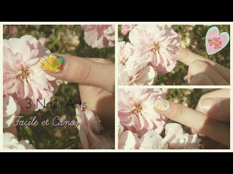 Nail Art | 3 Nails Arts facile et canon! ♥ - YouTube