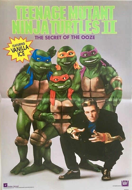 Teenage Mutant Ninja Turtles 2 Poster Featuring Vanilla Ice Available For Purchase From Our Coll Ninja Turtles Teenage Mutant Ninja Turtles Ninja Turtles Art