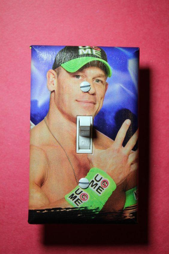 WWE Light Switch Cover Plate Wrestling Boys Girls Bedroom Room Decor