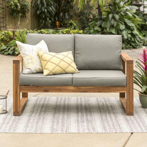 Furniture Co Brown Patio Loveseat