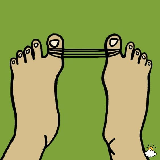 A Simple Hair Tie Can Be Used To Help Prevent Painful Bunions