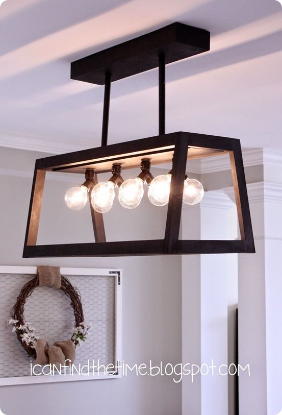DIY Home Decor | Restoration Hardware Knock Off Wood Chandelier for $47.50!: