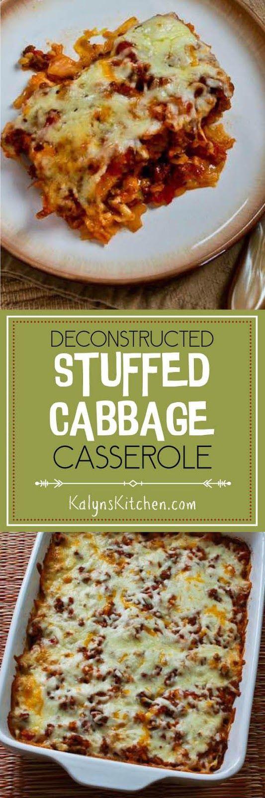 Deconstructed Stuffed Cabbage Casserole Recipe found on KalynsKitchen ...