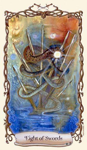 Thực hư Lá Eight of Swords - Fantastical Creatures Tarot bài tarot