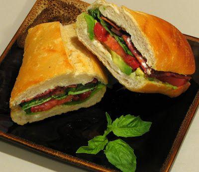 ... Love of Cooking » B.B.T.A (Bacon, Basil, Tomato & Avocado Sandwich
