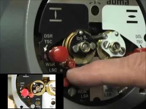Setting Limit Switch Auma Setting Limits Settings Switches