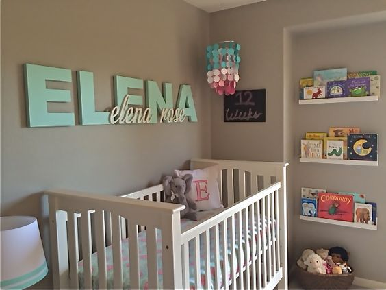 Wooden name above crib - adorable!: