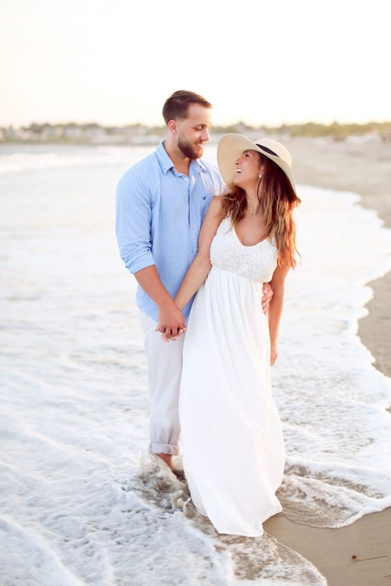 Engagement shoot at Southshore Beach in Little Compton, RI. www.lindseymaephotography.com: