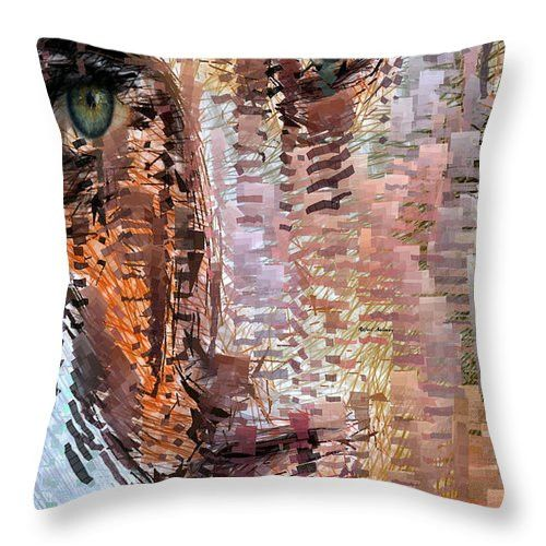 Throw Pillow - Green Eyes Girl