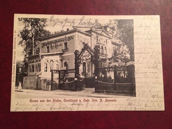 Königsberg, Gruß aus der Hufen, Conditorei u. Café Amende in Sammeln & Seltenes, Ansichtskarten, Ehemalige dt. Gebiete | eBay