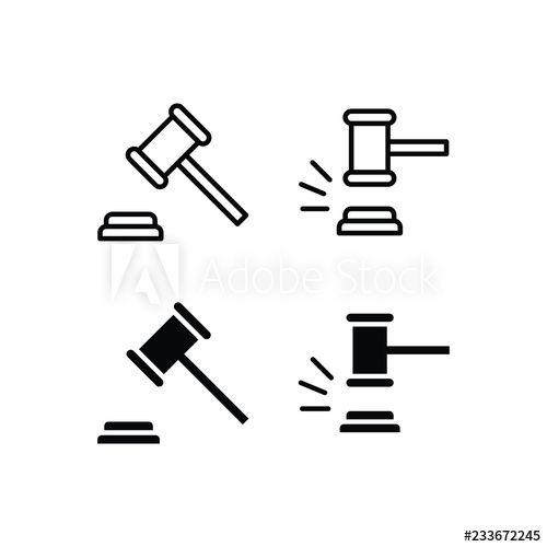 Gavel Icon Logo Vector Symbol Vector Logo Icon Symbols