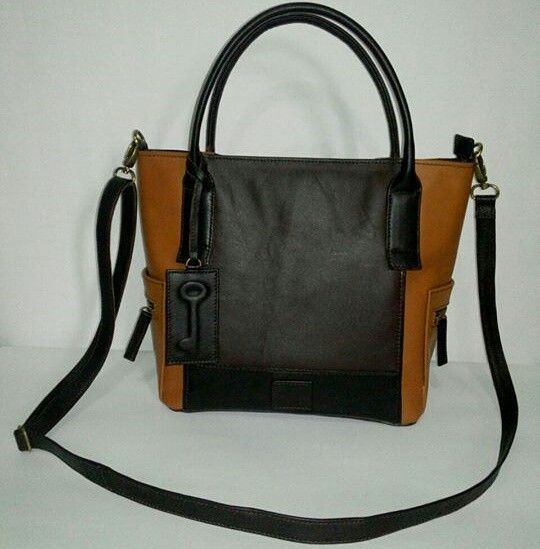 Leather bag fossil