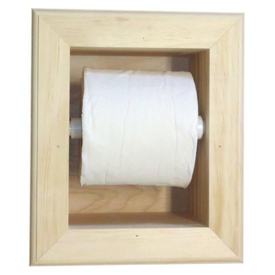 WG Wood Ruby Recessed Mega Toilet Paper Holder - RUBY-16