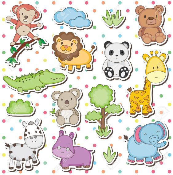 Dibujos animales de la selva bebes buscar con google for Vacas decorativas para jardin