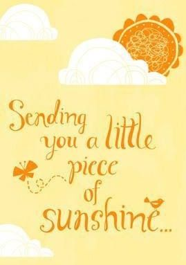 Sunshine @marymed luv and hugs: