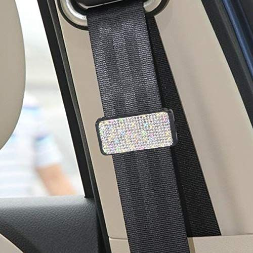 Bling Bling Colorful Crystal Seat Belt Shoulder Pad Luster Car Decor Accessory for Women Universal