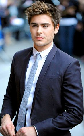 Guys in suits are just....nom. but Zac Efron in a suit....OHMYGOD. Mr Grey? I WISH.