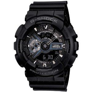 Amazon.com: Casio G-Shock X-Large Display Stealth Black Watch (GA110-1B) - Water and Shock Resistant: Casio G-Shock: Watches