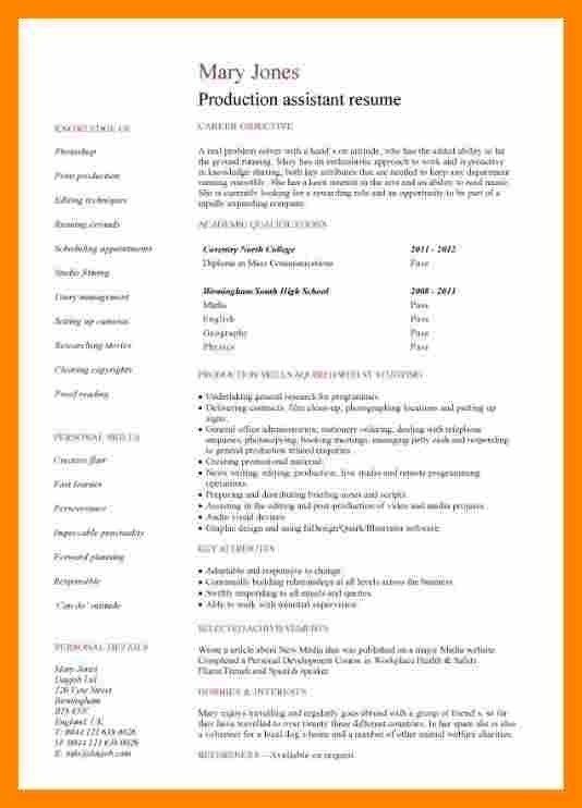 8 Cv Without Experience Lobo Development Cv For Students Good Resume Examples High School Resume Template