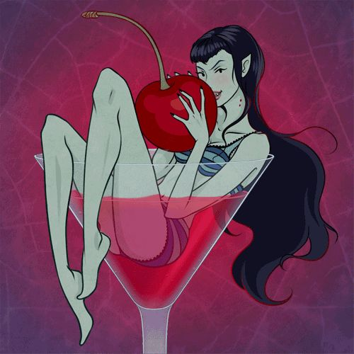 Marceline in pin up style for the challenge