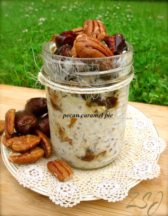Zain's Swiss Summer Oats -     Pecan Caramel Pie    Complete Recipe: http://www.zainsaraswatijamal.com/site/recipes/zains-swiss-summer-oats-10-signature-flavours/