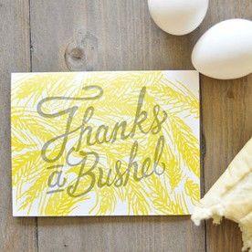 WP Thanks A Bushel Card. Domestica - Des Moines, IA