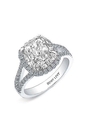 Bony Levy Diamond Split Shank Semi Mount Engagement Ring ~ Nordstrom