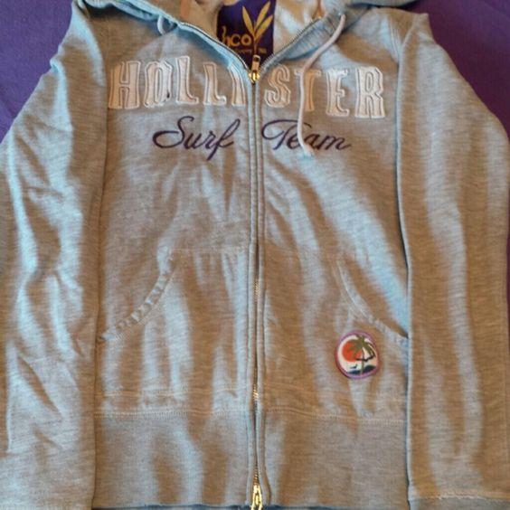 Hollister full zip sweatshirt Grey full zip Hollister sweatshirt. Hollister Tops Sweatshirts & Hoodies