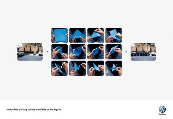"Volkswagen  ""Hands-free parking system.""    Advertising Agency: AlmapBBDO, São Paulo, Brazil  Executive Creative Director: Marcello Serpa  Creative Director: Luiz Sanches  Copywriter: Renato Simões  Art Director: Bruno Prosperi"