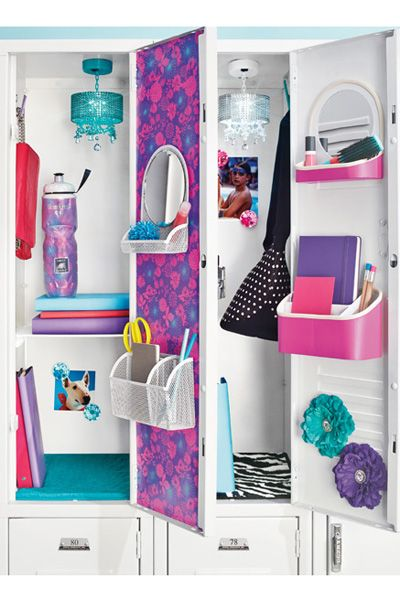 15 super cute ways to deck out your locker this year lockers seventeen and decking - Locker Designs Ideas
