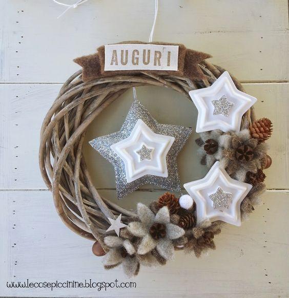 Glitter & Star Christmas Wreath - Le cose Piccinine