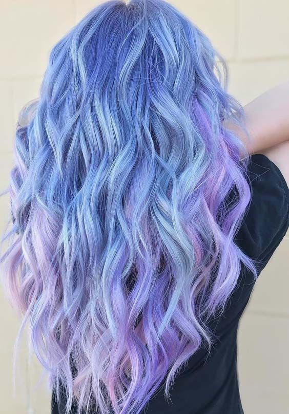 47 Gorgeous Icy Blue Lavender And Pink Hair Color Ideas In 2018