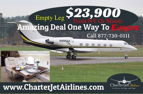 #Empty Leg Amazing Deal From NY Or Miami To Anywhere In Europe ` OFF Call Today to #BookThisFlight 877-730-0111