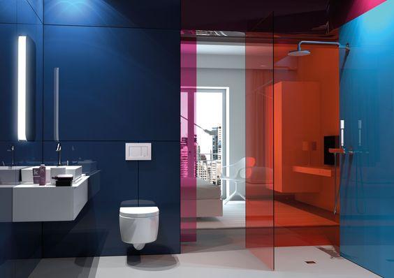 Verkwikkend en lumineus — deze badkamer combineert strakke lijnen met stijlvolle kleuren. Een energieke ruimte om je dag te beginnen.