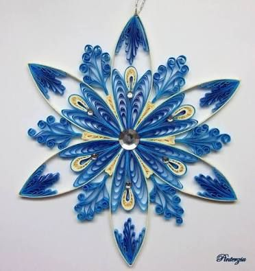 paper quilling snowflakes tutorial - Google Search
