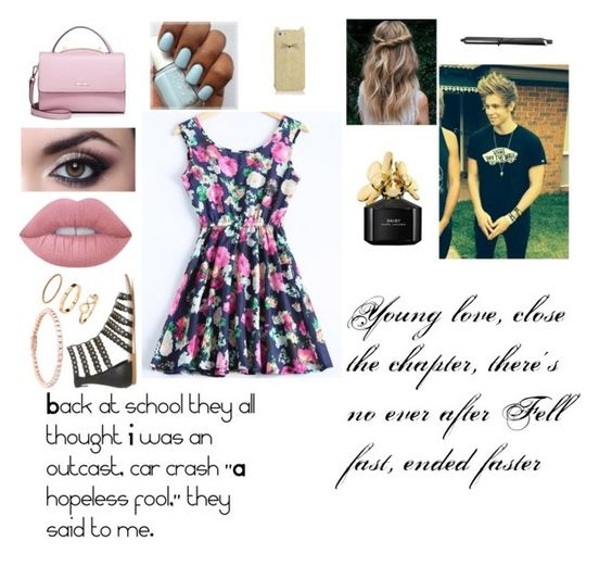 """""""Kate's date with Luke"""" by katie-smithie ❤ liked on Polyvore featuring Lime Crime, H&M, WithChic, Marc Jacobs, GHD, Kate Spade, 5sos and lukehemmings"""