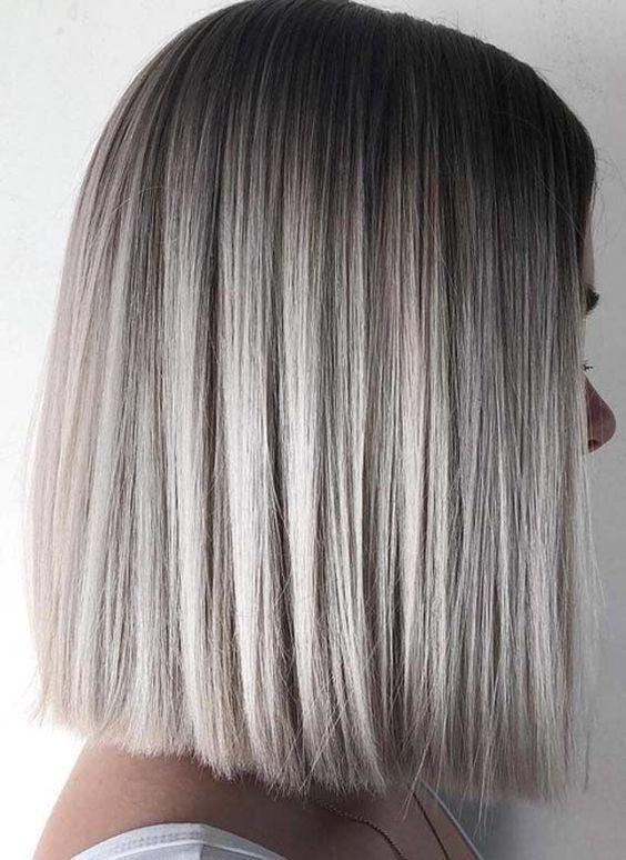 50 Schicke Und Trendige Straight Bob Frisuren Und Farben Die Besonders Aussehen Hairsty In 2020 Haar Styling Bob Frisur Silberblonde Haare