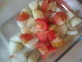 Merry Tummy: Tamatar Pyaz Ki Subji/ Onion Tomato Dry Curry- In Microwave