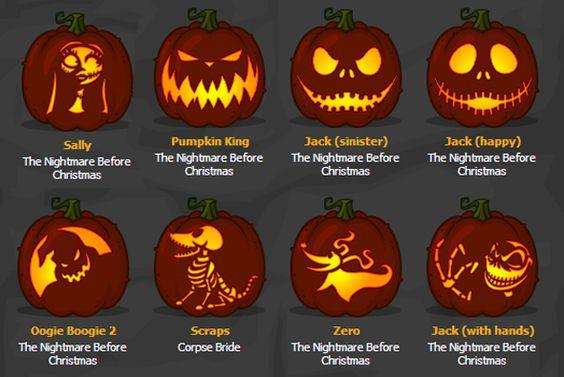 Jack Skellington Pumpkin Stencil | Zombie Pumpkins - pumpkin ...