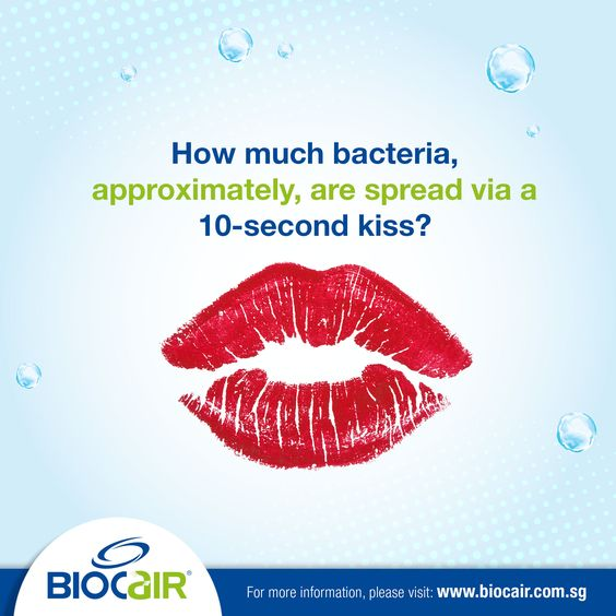 According to a study done in the Netherlands in 2014, 80 million bacteria are transferred on average, in a single 10-second intimate kiss. Share the knowledge about BioCair's range of anti-bacterial products with your partner too!