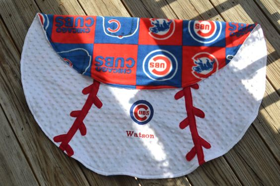 Chicago Cubs Baseball Blanket by HazelMaeBoutique on Etsy