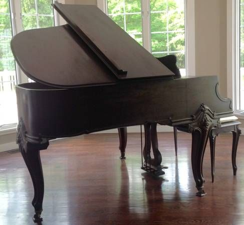 ANTIQUE MAHOGANY KNABE BABY GRAND CIRCA EARLY 1900's