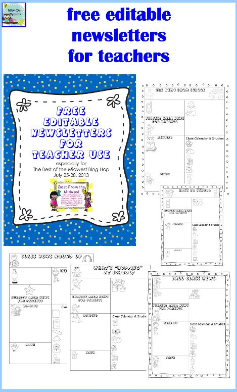 free editable newsletter templates for teachers editable newsletters for teachers five templates free pdf