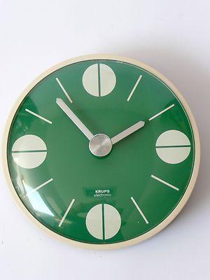 Original 1970s Krups Wall Clock Eames Panton Space Age 60s Era