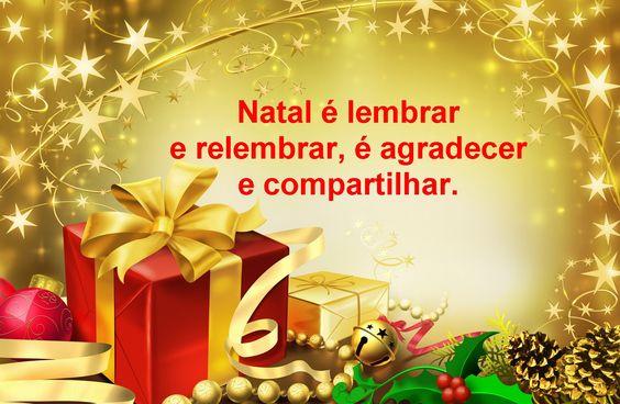 Natal é lembrar e relembrar, é agradecer e compartilhar. #FelizNatal