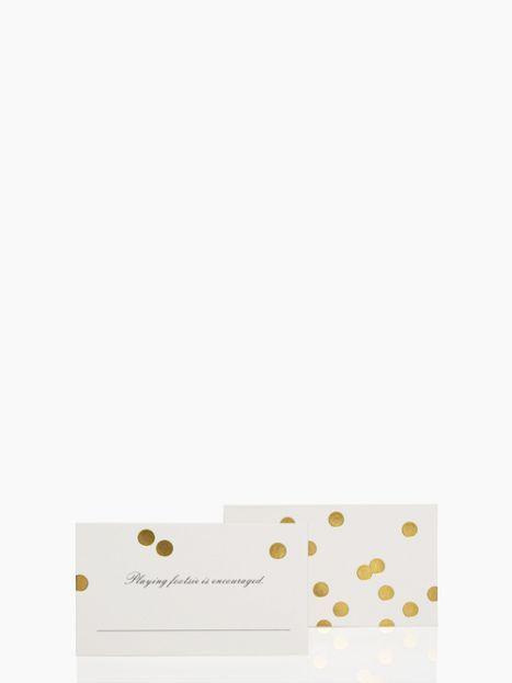 gold dot place cards set
