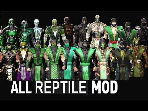 Mortal Kombat ALL REPTILE MK Costume Skin PC Mod MK9