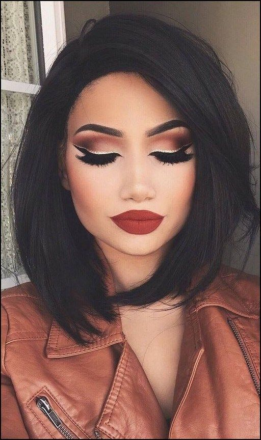 125 Beautiful Neutral Makeup Ideas For The Prom Party Page 19 Homeinspirationss Com Prom Hairstyles For Short Hair Hair Makeup Medium Hair Styles