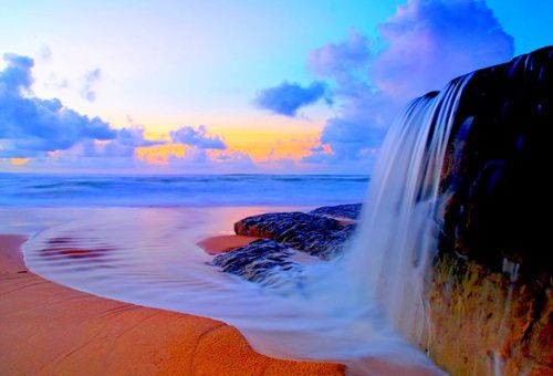 Ocean Waterfall, Malibu, California